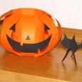 かぼちゃと黒ねこ
