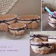 カゴセット 紫小花
